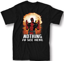 Image: Deadpool T-Shirt: Nothing to See Here [Black]  (L) - Mighty Fine