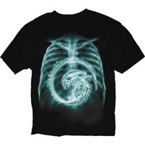 Image: Alien T-Shirt: X-Ray [Black]  (XL) - Changes