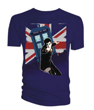 Image: Doctor Who T-Shirt: 10th Doctor - Union Jack [Navy]  (XL) - Titan Books Uk