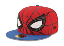Image: Spider-Man: Homecoming - Allover 5950 Fitted Cap Size  (7 3/8) - New Era Cap Co