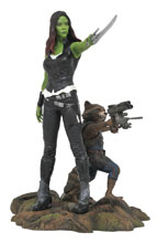Image: Marvel Gallery Guardians of the Galaxy V2 PVC Figure: Gamora & Rocket Racoon  - Diamond Select Toys LLC