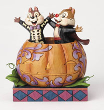 Image: Disney Traditions Figure: Chip & Dale in Pumpkin  - Enesco Corporation