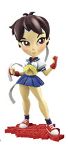 Image: Street Fighter Knockouts Ser1 Vinyl Figure: Sakura  - Cryptozoic Entertainment