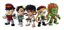 Image: Street Fighter Lil Knockouts Mini Vinyl Figure Series 1 Blind Mystery Box Display  - Cryptozoic Entertainment
