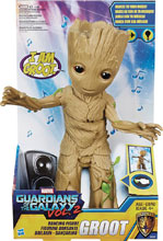 Image: Marvel Guardians of the Galaxy Dancing Groot Feature Action Figure Case  (12-inch) - Hasbro Toy Group