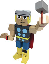 Image: Marvel Wood Warriors Action Figure: Thor  (8-inch) - Ppw Toys