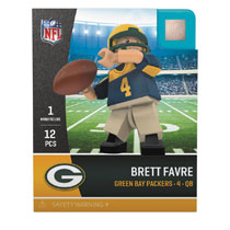 Image: Oyo NFL Mini Figure: Packers Brett Favre  (Throwback version) - Oyo Sports, Inc