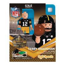 Image: Oyo NFL Mini Figure: Steelers Terry Bradshaw  (Throwback version) - Oyo Sports, Inc