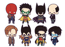 Image: DC Universe 8-Piece Blind Mystery Box Rubber Charm Display: Batman Family  - Koto Inc.