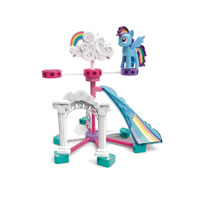 Image: Knex My Little Pony Building Set: Rainbow Dash & Cloudsdale  - K'Nex Ltd Partnership Group