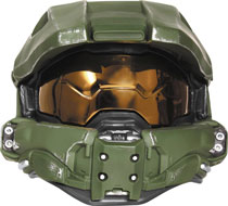 Image: Halo Master Chief Adult Light-Up Deluxe Helmet  (Adult) - Disguise Inc