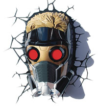 Image: Marvel 3D Light: Guardians of the Galaxy - Star-Lord Mask  - 3D Lighting Innovations Inc.