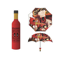 Image: Marvel Umbrella: Deadpool Chimichanga Bottle  - Bioworld Merchandising
