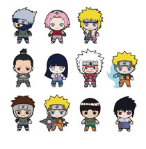 Image: Naruto Shippuden Laser Cut Figural Keyring 24-Piece Blind Mystery Box Display  - Monogram Products