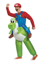Image: Nintendo Adult Inflatable Costume: Mario and Yoshi  - Disguise Inc