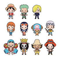Image: One Piece Laser Cut Figural Keyring 24-Piece Blind Mystery Box Display  - Monogram Products