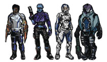 Image: Figpin Mass Effect Andromeda Enamel Figure Pin 6-Piece Assortment  - Cmd Collectibles