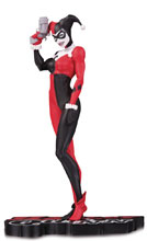Image: Harley Quinn Red White & Black Statue by Michael Turner  - DC Comics