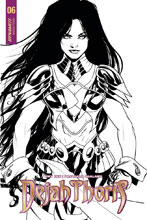 Image: Dejah Thoris Vol. 02 #6 (cover D incentive - Qualano B&W) (10-copy) - Dynamite