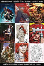 Image: Red Sonja 45th Anniversary Foil Trading Card Box  - Dynamite