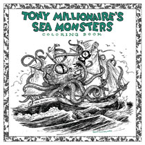 Image: Tony Millionaire's Sea Monsters Coloring Book SC  - Boom! Studios