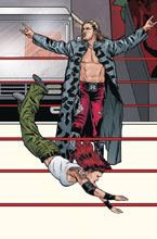 Image: WWE #19 (Raw 25th Anniversary Connecting variant cover - Schoonover)  [2018] - Boom! Studios