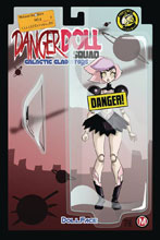 Image: Danger Doll Squad: Galactic Gladiators #4 (cover F - Mendoza risque) - Action Lab - Danger Zone