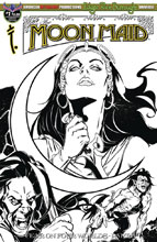 Image: Moon Maid #1 (variant cover - B&W) - American Mythology Productions
