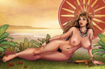 Image: Cavewoman: Marshvilles Beauties #1 (cover E - Root nude) - Amryl Entertainment