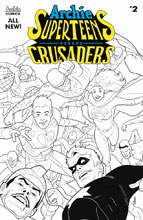 Image: Archie's Superteens vs. Crusaders #2 (cover B - Dave Williams B&W) - Archie Comic Publications