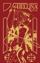 Image: Hellina Scythe #1 (variant cover - Golden Fire Leather) - Boundless Comics