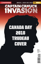 Image: Invasion  (variant Character File Canada Day cover - Trudeau) - Chapterhouse Publishing, Inc
