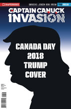 Image: Invasion  (variant Character File Canada Day cover - Trump) - Chapterhouse Publishing, Inc