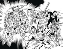 Image: Action Comics #1000 (variant DFE B&W cover - Jurgens) (DFE signed - Snyder) - Dynamic Forces