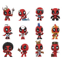 Image: Mystery Minis Deadpool Playtime 12-Piece Blind Mystery Box Display  - Funko