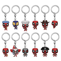 Image: Pocket Pop! Marvel Deadpool Figure Keychain 12-Piece Blind Mystery Box Display  - Funko