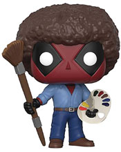 Image: Pop! Marvel Deadpool Vinyl Figure: Parody Deadpool Bob Ross  - Funko