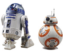 Image: Star Wars Model Kit: BB-8 & R2-D2  (1/12 scale) - Bandai Hobby