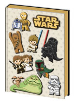 Image: Star Wars: Kawaii Premium PVC Embellished Journal 10-Piece Display  - Pyramid America, Lp
