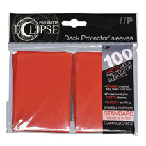 Image: Pro Matte Eclipse 2.0 Deck Protectors - 100-Count  (Apple Red) - Ultra Pro International