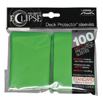 Image: Pro Matte Eclipse 2.0 Deck Protectors - 100-Count  (Lime Green) - Ultra Pro International