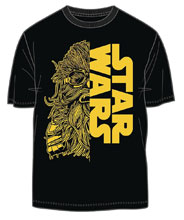 Image: Star Wars: Solo T-Shirt - Chewie Star Wars Split [Black]  (XL) - Mighty Fine