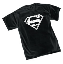 Image: Superman T-Shirt: Shatter Symbol  (XL) - Graphitti Designs