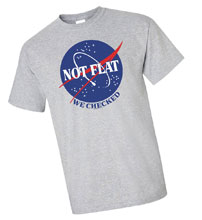 Image: Not Flat, We Checked T-Shirt [Grey]  (L) - Off World Designs