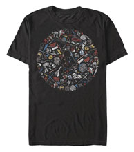 Image: Star Wars T-Shirt: Icon Circle [Black]  (L) - Fifth Sun