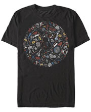 Image: Star Wars T-Shirt: Icon Circle [Black]  (XL) - Fifth Sun