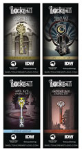 Image: Locke & Key Series 2 Enamel Pin Set  - Skelton Crew Studio