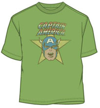 Image: Captain America: CA the Star Kelly Green T-Shirt  (XL) - Mad Engine