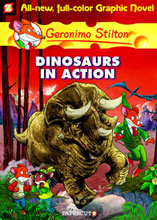 Image: Geronimo Stilton Vol. 07: Dinosaurs in Action HC  - Papercutz