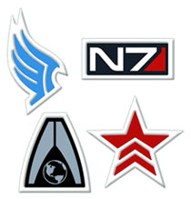 Image: Mass Effect Embroidered Patch: Renegade  - Dark Horse